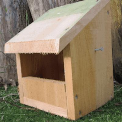 Es Open Fronted Bird Box Habitat Enhancement