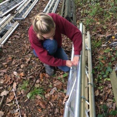 Installing Animex Dormouse Bridge Ecology Mitigation