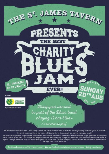 Blues Jam Poster Aug 2017 A4
