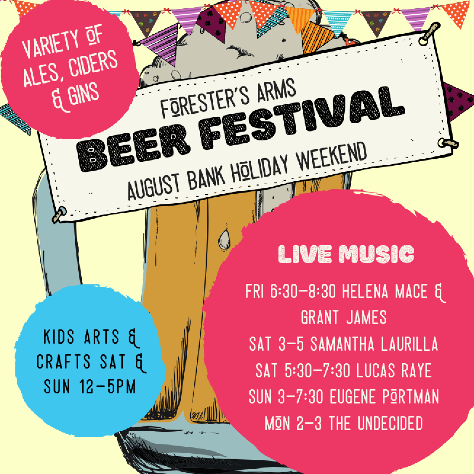 Sm Copy Of Foresters Beer Festival Poster