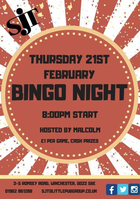 February Bingo Night Page 001