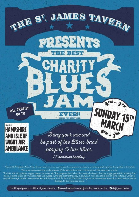 Sjt Blues Jam March 2020