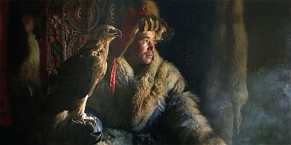 Kazakh man & his hunting eagle