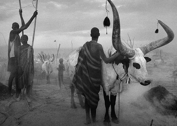 Dinka camp by Sebastiao Salgado