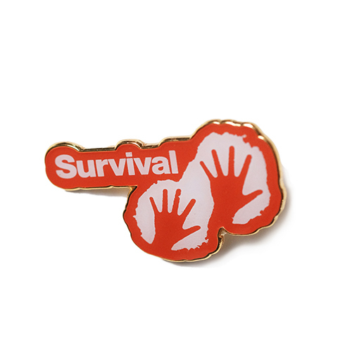 Survival pin badge