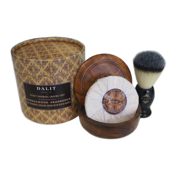 NEW: Sandalwood shaving soap and brush
