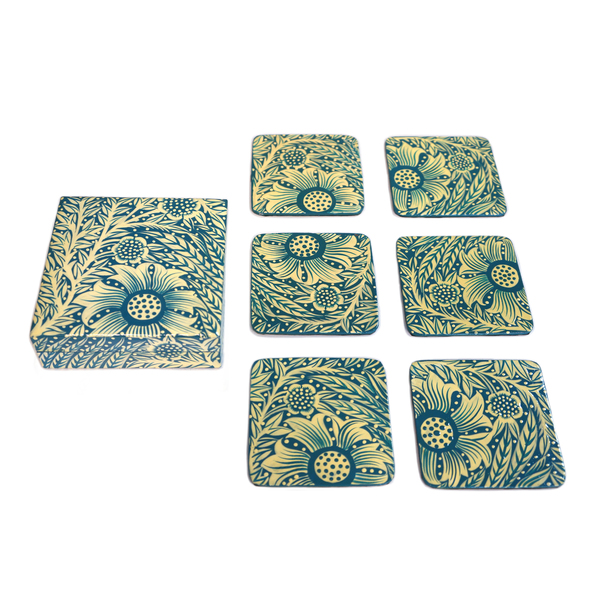 NEW: Indian hand-painted coasters - Beypore