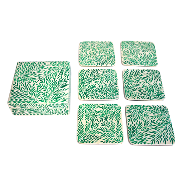NEW: Indian handpainted coasters - Alleppey