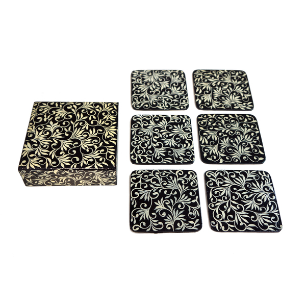 NEW: Indian handpainted coasters - Munnar