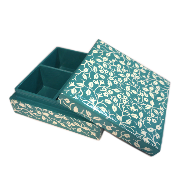 NEW: Indian hand-painted jewellery box - Kochi