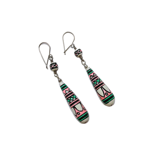NEW: Peruvian earrings - pink