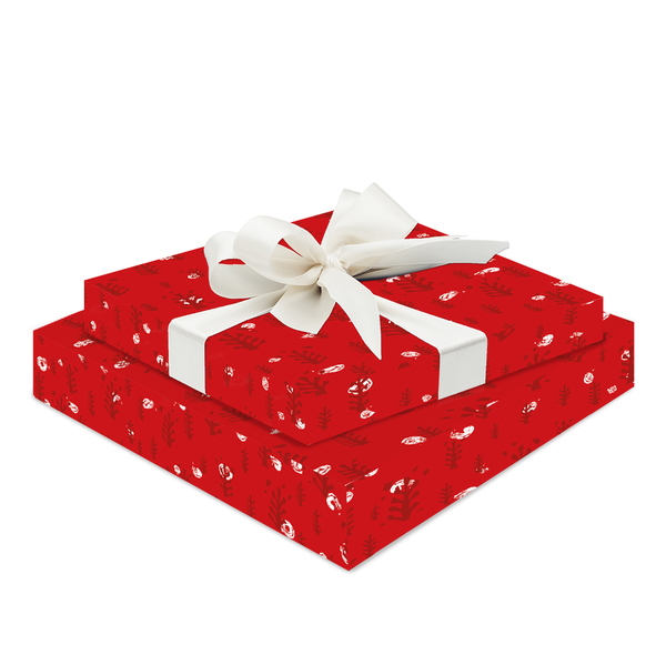 NEW: Festive red forest giftwrap