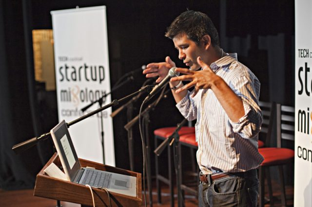 Travis Kalanick speaks at Tech Cocktail's Startup Mixology Conference