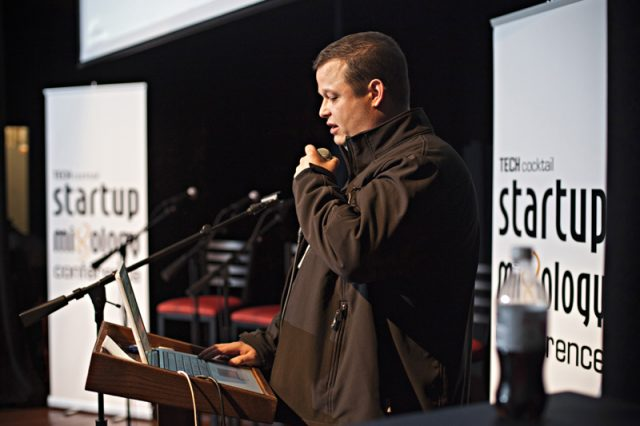 Aaron Batalion speaks at Tech Cocktail's Startup Mixology Conference
