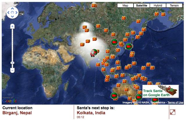 Track Santa on Google Maps