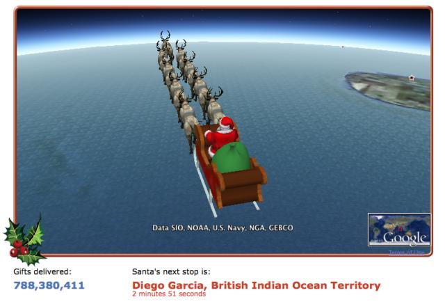 Track Santa on Google Earth