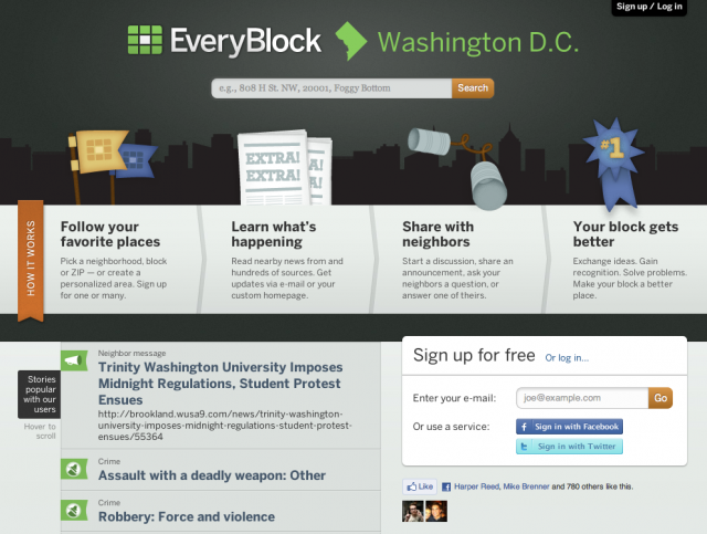 Find your neighborhood in EveryBlock