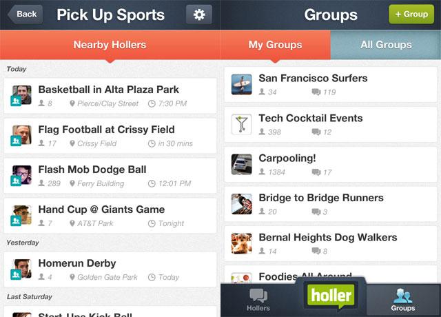 Holler Groups Screen-shot