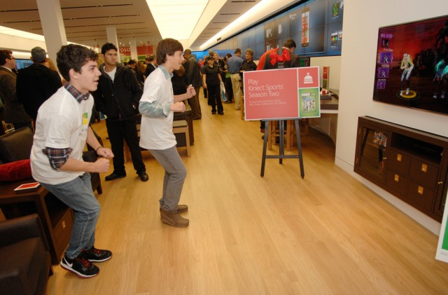 Kinect in the Microsoft Store at Tyson's Corner