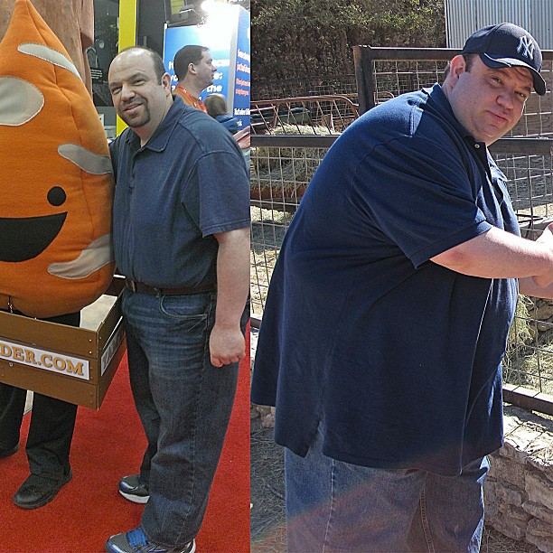 Allen Stern lost 125 pounds shown here in March 2013 and December 2011. Photo credit Allen Stern.