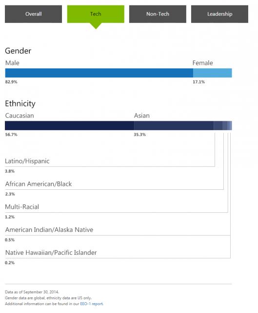 Microsoft Diversity Stats (Tech)