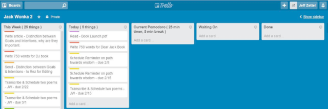 productivity system - Trello