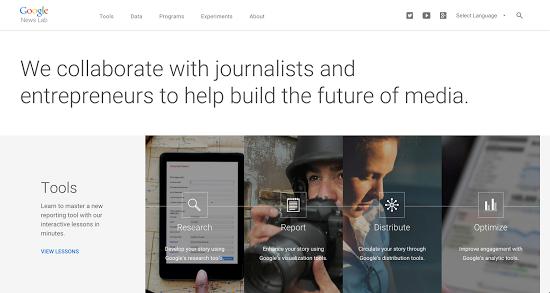 Google News Lab Screenshot