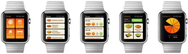 PizzaPizza's wearable application for Apple Watch