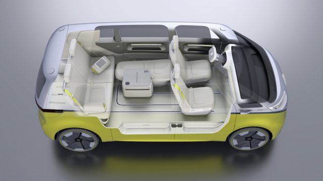 VW Electric Microbus - Seating