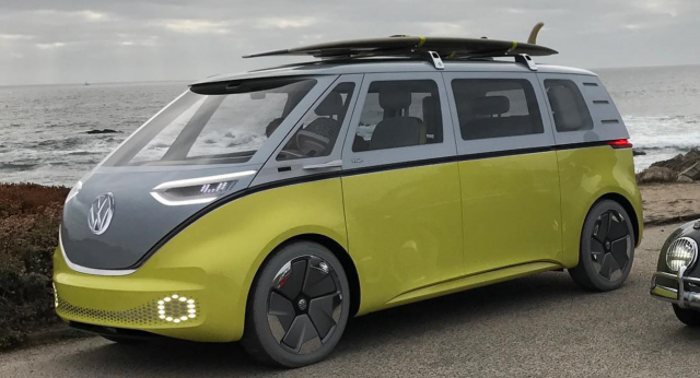 VW Electric Microbus Spotted in Pebble Beach by Zelectric Motors - August 16 2017
