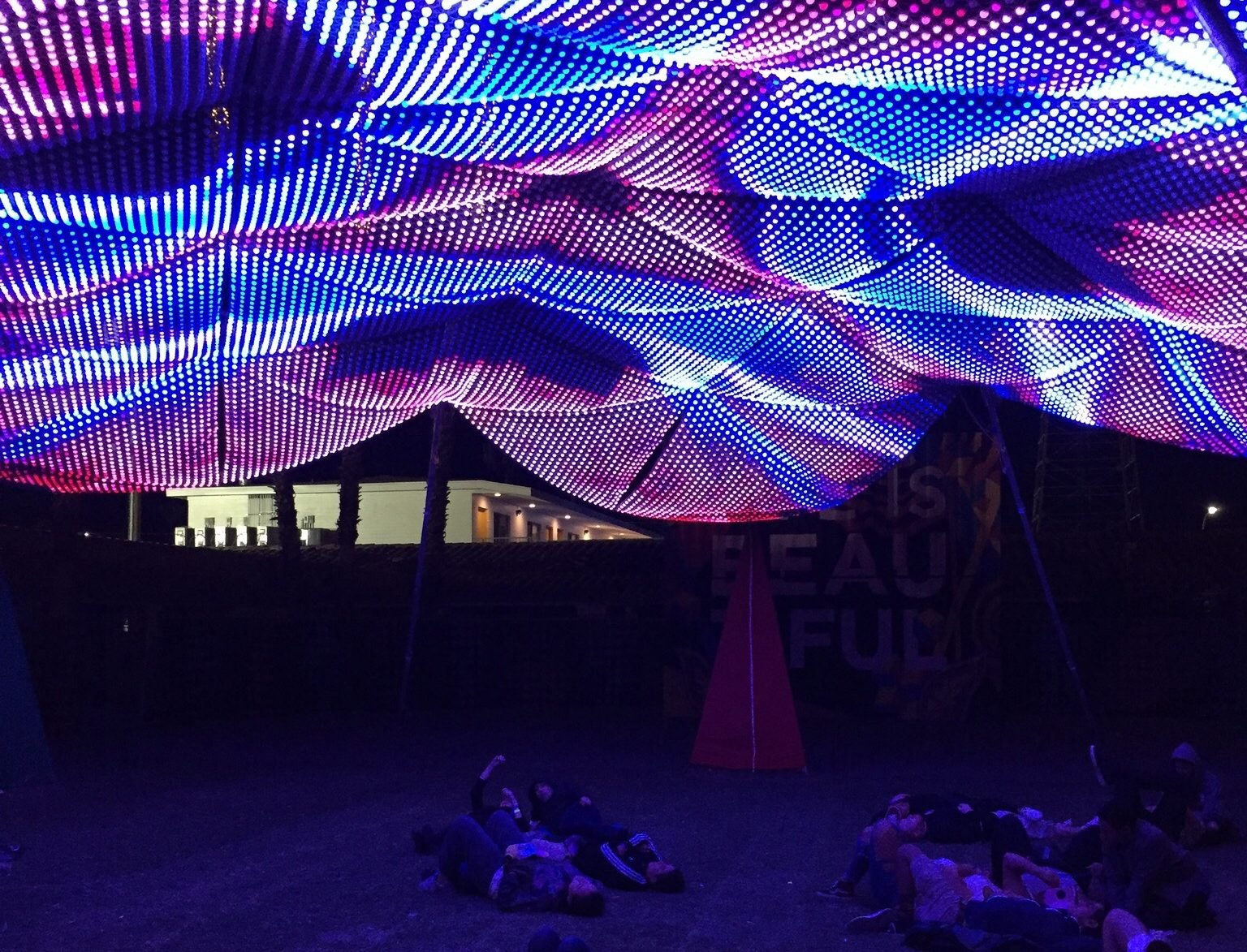 LED blanket at Life is Beautiful