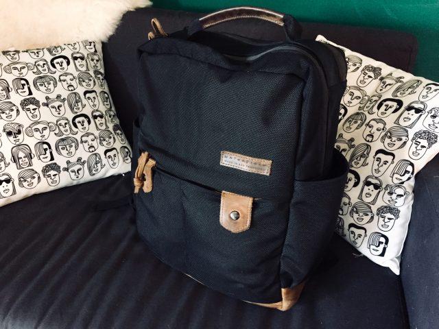 Bolt Backpack in black by Waterfield Designs