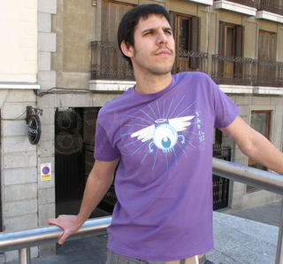 Camiseta chico Ojo Angel Morado