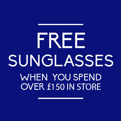 Free sunglasses when you spend £150
