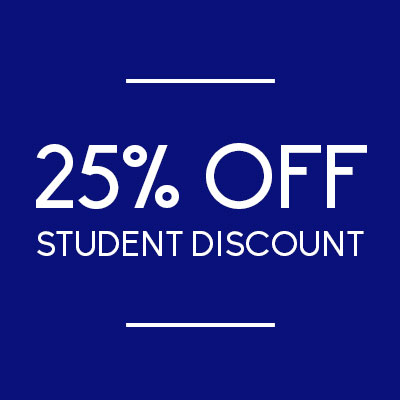 25% off all frames with Student Discount