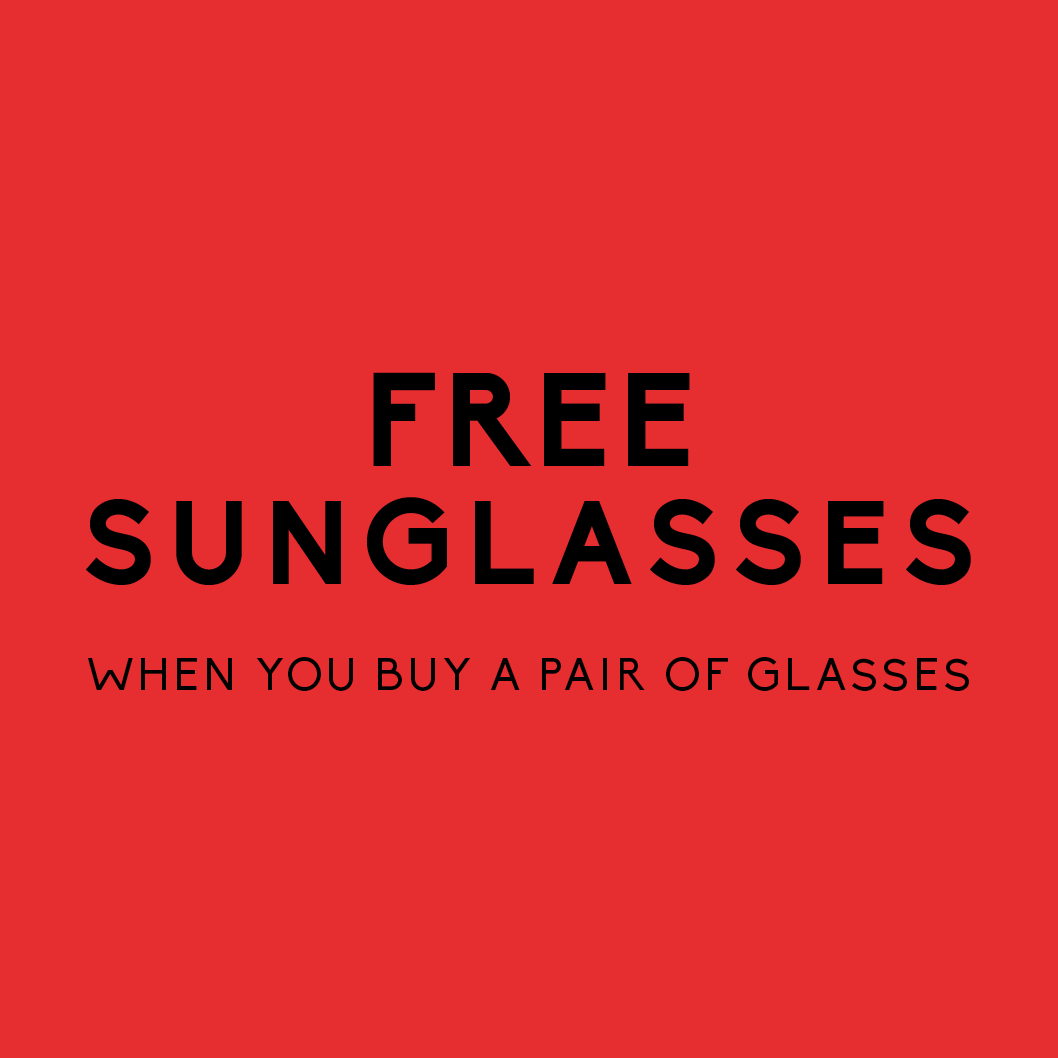 Free Sunglasses when you buy a pair of glasses