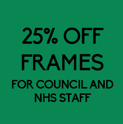25% discount off frames for all council and NHS staff.