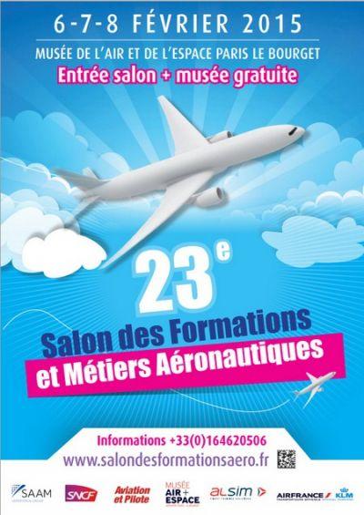 23e salon des formations/métiers aéronautiques, du 6 au 8 février 2015 au Musée de l'Air et de l'Espace
