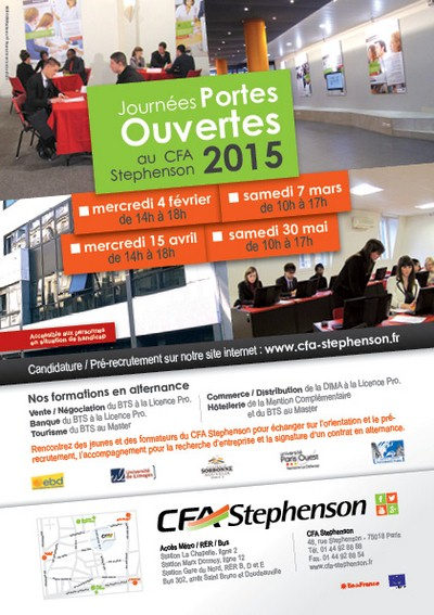 Les Journées Portes Ouvertes 2015 du CFA Stephenson - Paris