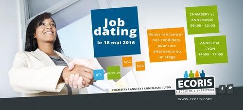 ECORIS Annecy, Annemasse, Chambéry et Lyon organisent un JOB DATING le 18 mai 2016