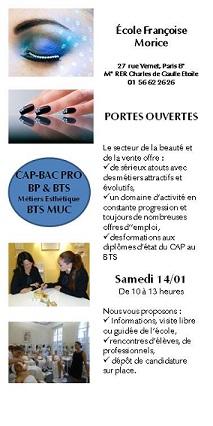 Francoise Morice JPO samedi 14 janvier à partir de 10 heures