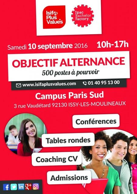 Journée Portes Ouvertes ISIFA Paris Sud - Samedi 10 septembre 2016 de 10h à 17h