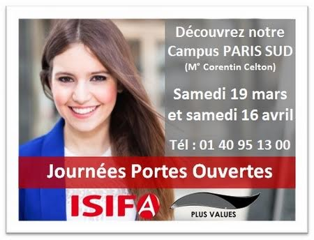 ISIFA - Journées Portes Ouvertes Samedi 19 mars 2016 (10h-17h)