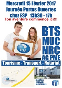 L'école ESP Albi vous ouvre ses portes le MERCREDI 15 FÉVRIER de 13h30 à 17h