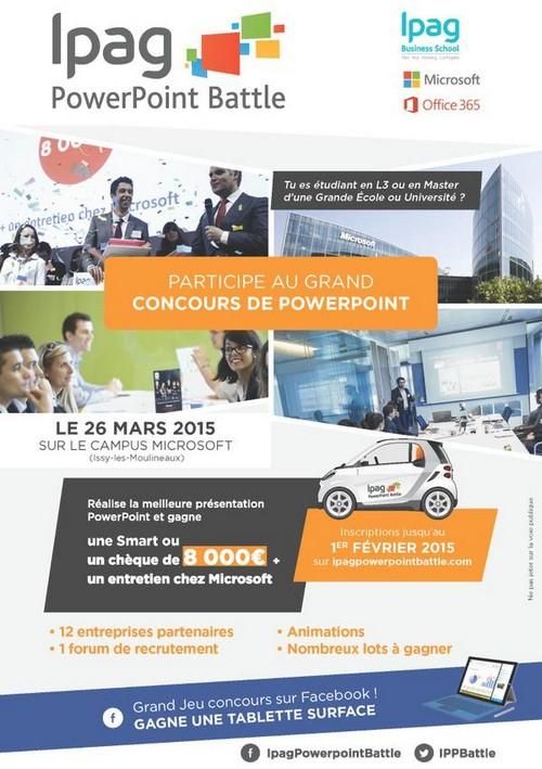 3ème édition de l'IPAG PowerPoint Battle le 26 mars 2015