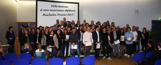 Remise de diplômes Bachelor Promo 2015 d'Ecoris d'Annecy et de Chambéry