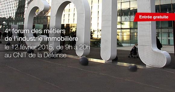 4ème édition du fmii -Forum des métiers de l'industrie immobilière- le 12 février au CNIT à La Défense