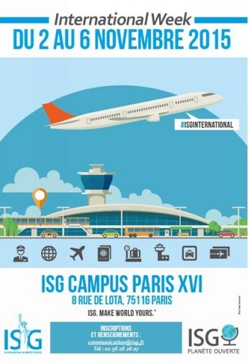 L'ISG lance la 1ère édition de l'International Week du 2 au 6 novembre 2015