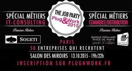 soirée de recrutement Plug&Work le 13 octobre à Paris