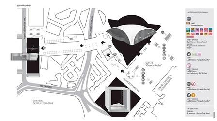 Pôle Universitaire Léonard de Vinci - Plan